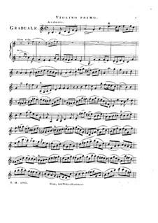 Sperate in Deo, HV 41: Violin I part by Joseph Eybler