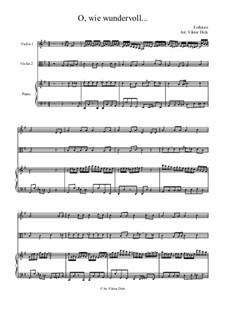 Oh, how Wonderful: For violin, viola and piano by folklore