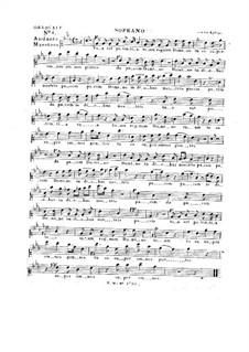 Tua est potentia, HV 50: Vocal parts by Joseph Eybler