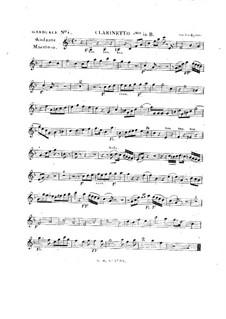 Tua est potentia, HV 50: Clarinet I part by Joseph Eybler