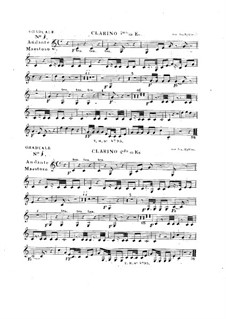 Tua est potentia, HV 50: Clarinos parts by Joseph Eybler