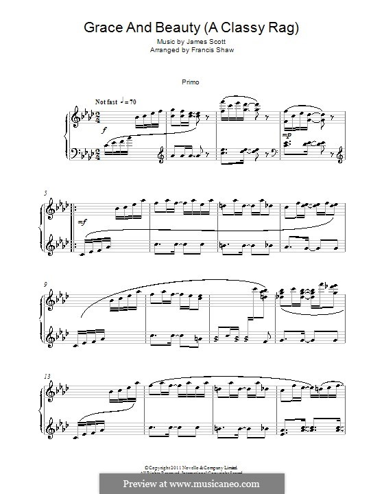 Grace and Beauty: For piano four hands by James Scott