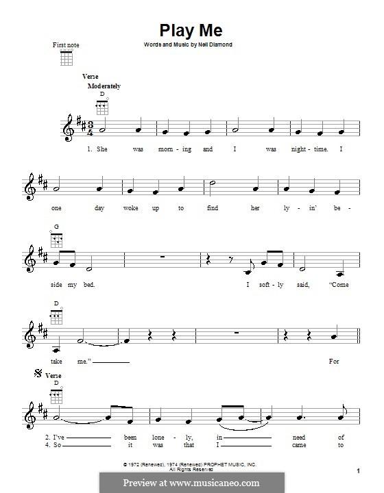 Play Me: For ukulele by Neil Diamond
