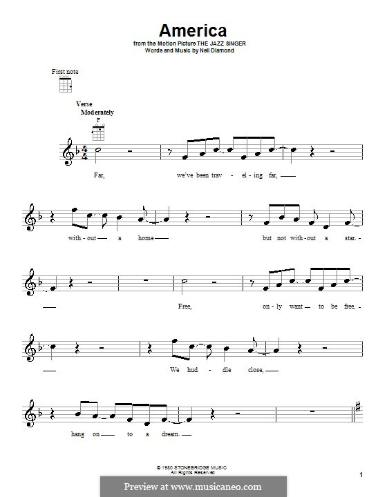 America: For ukulele by Neil Diamond