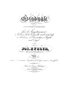 Non in multitudine, HV 56: Parts by Joseph Eybler