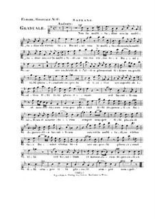 Non in multitudine, HV 56: Vocal parts by Joseph Eybler