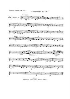 Non in multitudine, HV 56: Clarinet II part by Joseph Eybler