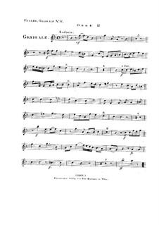 Non in multitudine, HV 56: Oboe I part by Joseph Eybler