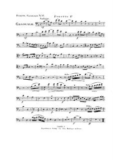 Non in multitudine, HV 56: Bassoon I part by Joseph Eybler