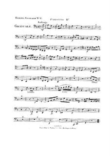 Non in multitudine, HV 56: Bassoon II part by Joseph Eybler