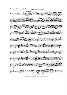 Non in multitudine, HV 56: Violin I part by Joseph Eybler
