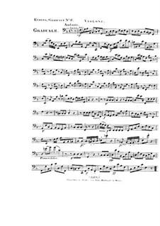 Non in multitudine, HV 56: Violone part by Joseph Eybler