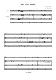 Alle Jahre wieder: For oboe and organ by Friedrich Silcher