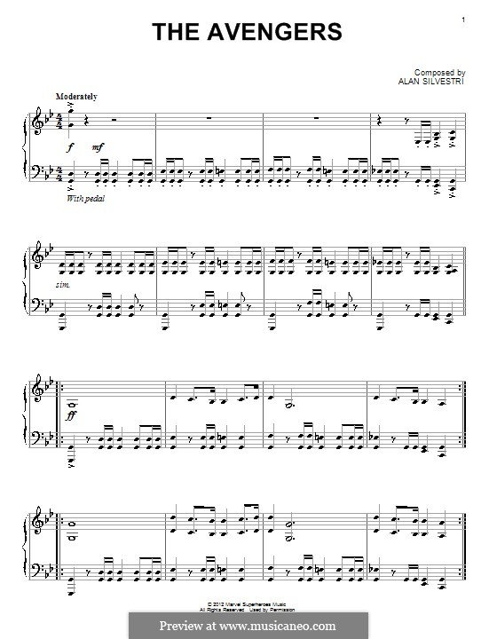 The Avengers: For piano by Alan Silvestri