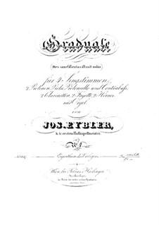Dies sanctificatus, HV 61: Parts by Joseph Eybler
