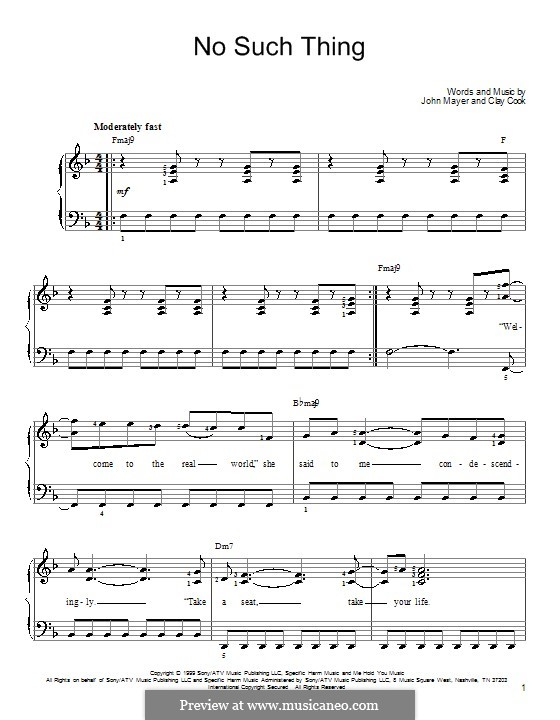No Such Thing: For piano by Clay Cook
