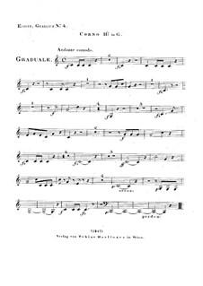 Dies sanctificatus, HV 61: Horn II in G part by Joseph Eybler
