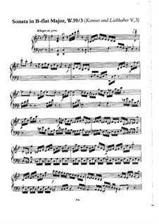 Collection V, Wq 59: Sonata No.2 in B Flat Major by Carl Philipp Emanuel Bach