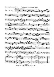 Dies sanctificatus, HV 61: Cello and double bass parts by Joseph Eybler