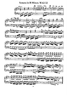 Sonata for Keyboard in B Minor, H 132 , Wq 62:22: For a single performer by Carl Philipp Emanuel Bach