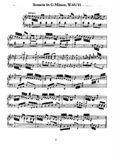 Sonata for Keyboard in G Minor, H 21 Wq 65:11: Version for piano by Carl Philipp Emanuel Bach