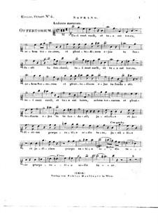 Tui sunt coeli, HV 78: Vocal parts by Joseph Eybler