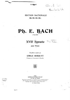 Sonata for Keyboard in G Minor, H 47 Wq.65/17: Version for piano by Carl Philipp Emanuel Bach
