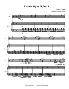 No.4 in E Minor: For cello and piano by Frédéric Chopin