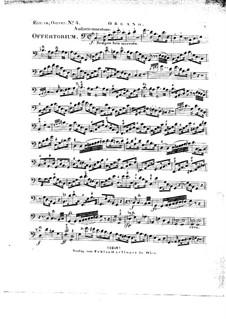Tui sunt coeli, HV 78: Organ part by Joseph Eybler