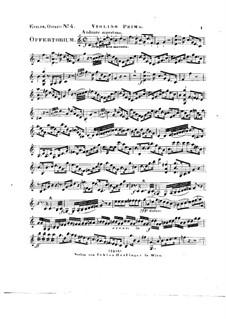 Tui sunt coeli, HV 78: Violin I part by Joseph Eybler