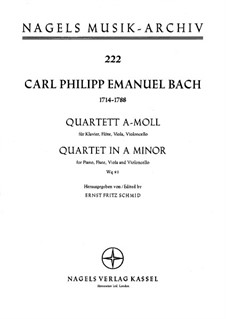 Piano Quartet, H 537 Wq 93: Full score by Carl Philipp Emanuel Bach