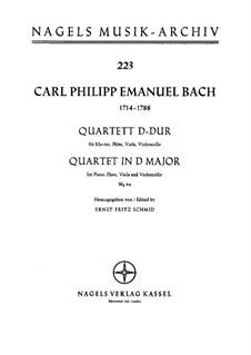 Piano Quartet, H 538 Wq 94: Full score by Carl Philipp Emanuel Bach