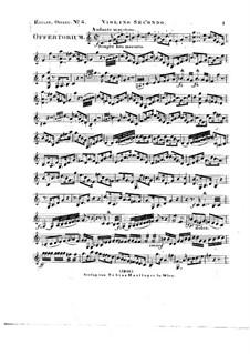 Tui sunt coeli, HV 78: Violin II part by Joseph Eybler