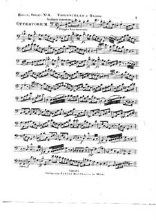 Tui sunt coeli, HV 78: Cello and double bass parts by Joseph Eybler