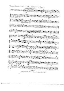 Tui sunt coeli, HV 78: Clarinet I in C part by Joseph Eybler