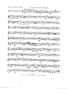Tui sunt coeli, HV 78: Clarinet II in C part by Joseph Eybler