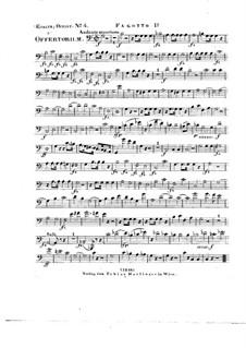 Tui sunt coeli, HV 78: Bassoon I part by Joseph Eybler