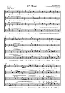 Mass in A Minor: Vocal score by Pompeo Cannicciari