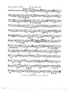 Tui sunt coeli, HV 78: Bassoon II part by Joseph Eybler