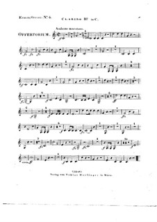 Tui sunt coeli, HV 78: Clarino II in C part by Joseph Eybler