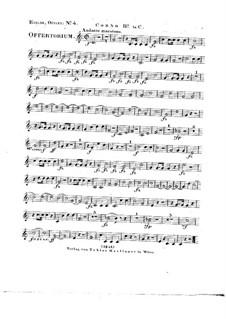 Tui sunt coeli, HV 78: Horn II in C part by Joseph Eybler