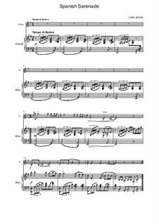 Spanish Serenade: For violin and piano by Carl Böhm