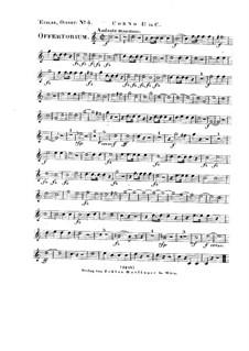 Tui sunt coeli, HV 78: Horn I in C part by Joseph Eybler