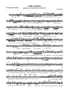 Cello concerto: Solo part Violoncello, MVWV 399a by Maurice Verheul