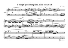 5 Simple pieces for piano: Third book, No.5, MVWV 693 by Maurice Verheul