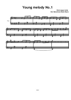 Young Melody No.1: Young Melody No.1 by OLC Barcelona Sheet Music