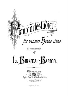 Piano Studies for the Left Hand: For a single performer by Ludvig Birkedal-Barfod