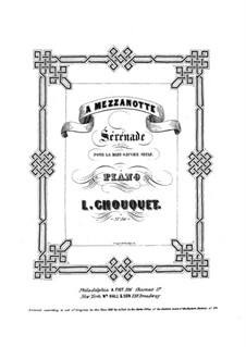Serenade for the Left Hand: For piano by Louise Chouquet