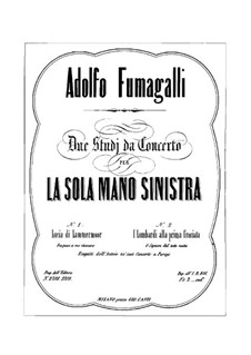 Concert Etude for the Left Hand, Op.18: For piano by Adolfo Fumagalli