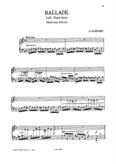 Ballade for the Left Hand Alone: Ballade for the Left Hand Alone by A. Karsoff
